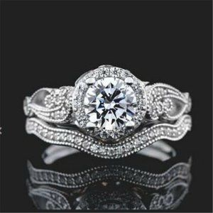 Round Halo Wedding ring Size 8
